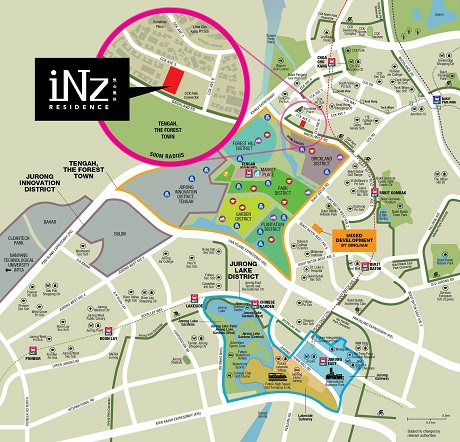 iNz Residences EC Location Plan