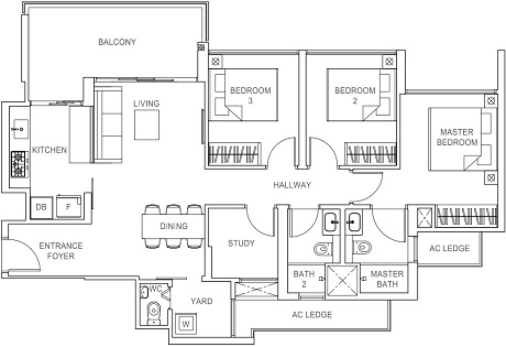 Rivercove Residences EC Floor Plan