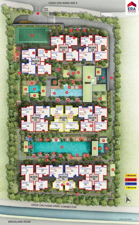 iNz Residence EC Site Plan at CCK