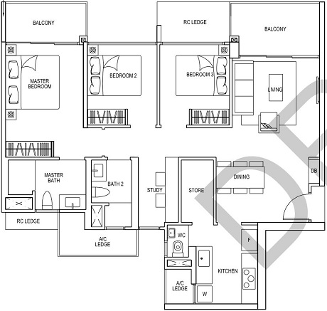 iNz Residences EC Cospace Floor Plan