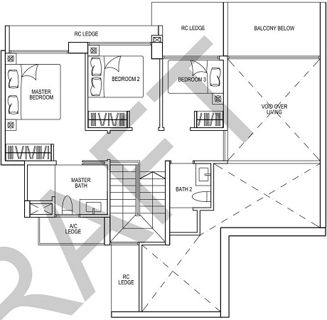iNz Residence EC Floor Plan 5 Bedroom E2 LL