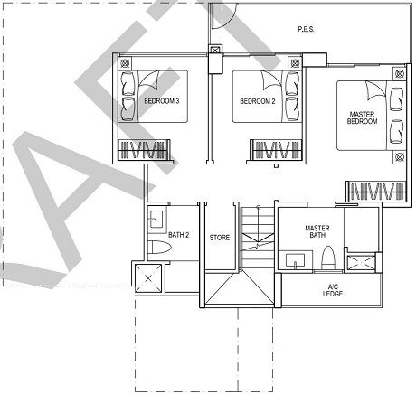 iNz Residence EC Floor Plan 5 Bedroom E2p LL